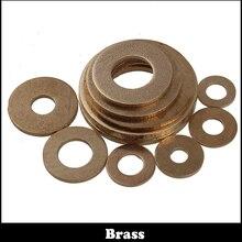 100pcs M5 M5x10x0.8 Brass Flat Gasket Copper Plain Washer