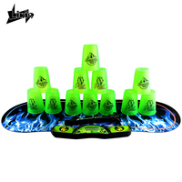 Likiq Speed Stacks Timer With Stacking Cups And 280x740mm Pad Anti Stress Competition Rapid Game Sport