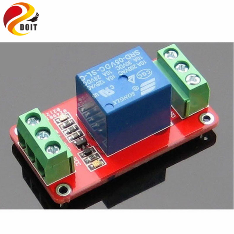 Official DOIT 1 Channel Relay Control Module Low Level Trigger 5V 12V 24V Robot DIY RC Electronic Toy Robot Development Board
