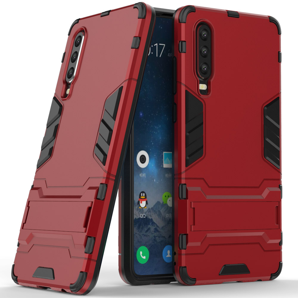For Huawei <font><b>P3</b></font> P30Lite P30 <font><b>Pro</b></font> Case 2 In 1 Soft TPU & Hard PC Back Armor Case Kickstand Anti Shock Cover For Huawei P30 <font><b>Pro</b></font> Lite image
