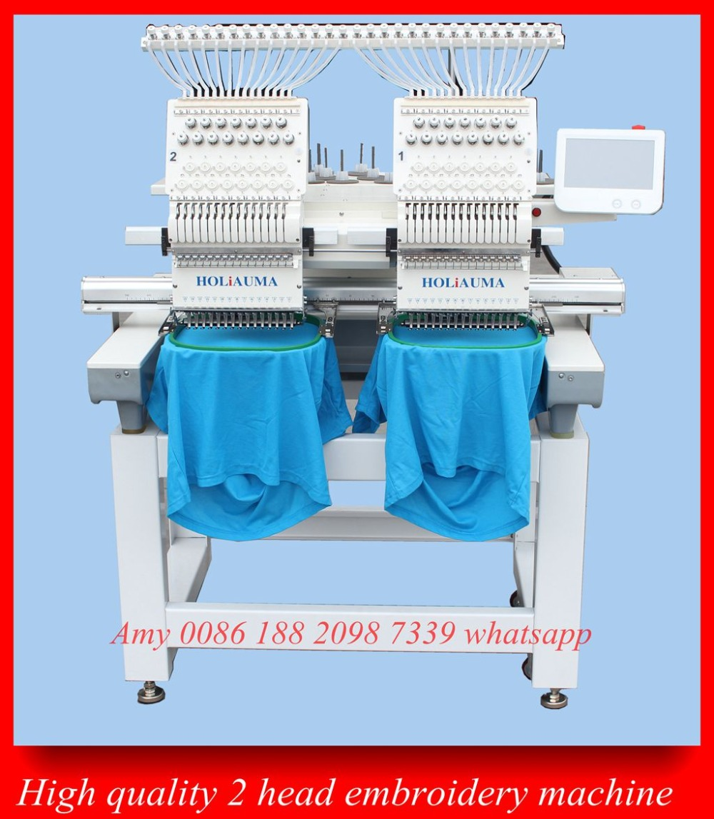 2 Head Computer Embroidery Machine Prices Computerized