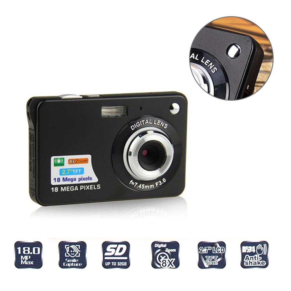 18 Mega Pixels CMOS 2.7 Pouce Caméra TFT LCD Écran HD 720 P Appareil Photo Numérique Prendre Des Photos Enfants Cadeau