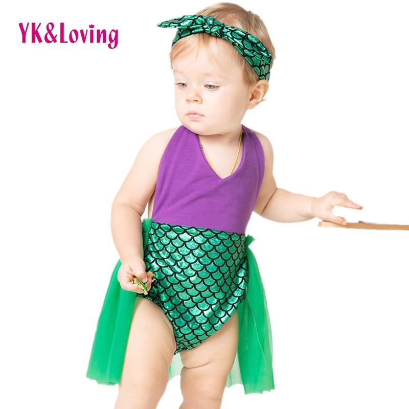 Yk&loving Sequin Little Mermaid Tail Princess Dress