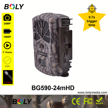 hunting cameras Boly 24MP 0.7S trigger time no glow IR 940nm invisible IR photo traps sounds recording 100 ft trail game cameras 3