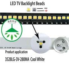 100 шт/лот ремонт lg tv led подсветка бар патч бусины 3528 3v