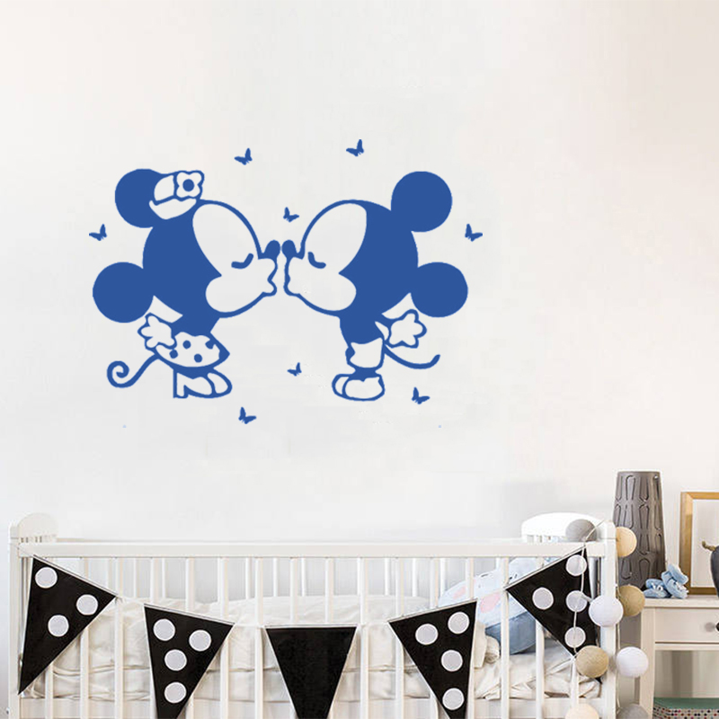 Mickey Mouse Wandaufkleber Personalisierte Name Wandtattoo ...