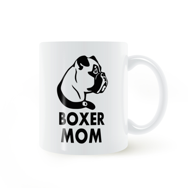 Boxer Mom Mug Coffee Milk Ceramic Cup Creative DIY Gifts Home Decor Mugs 11oz T859