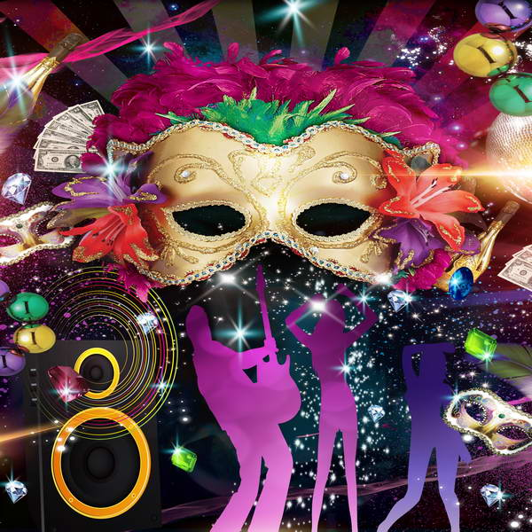 Mardi Gras Masquerade Mask Music Backgrounds High-quality Vinyl cloth Computer printed party backdrop backdrop cartoon candy display backgrounds vinyl cloth computer printed wedding backdrop