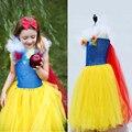 Snowwhite Inspirado vestido da menina de flor do bebê da menina de flor vestidos de Festa de Casamento de verão Crianças Vestido da menina tutu vestido Vetement Fille
