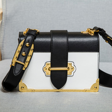 European and american style new fashion cowhide genuine leather bag for women messenger famous brand designer flap bag with logo