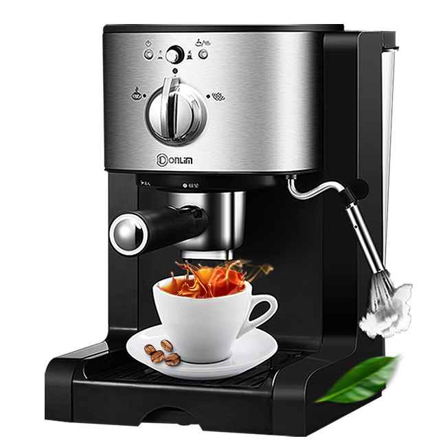 American/Italian <font><b>Coffee</b></font> Machine Electric Semi-automatic High Pressure <font><b>Coffee</b></font> Maker Extraction/Double Temperature Control 1350W image