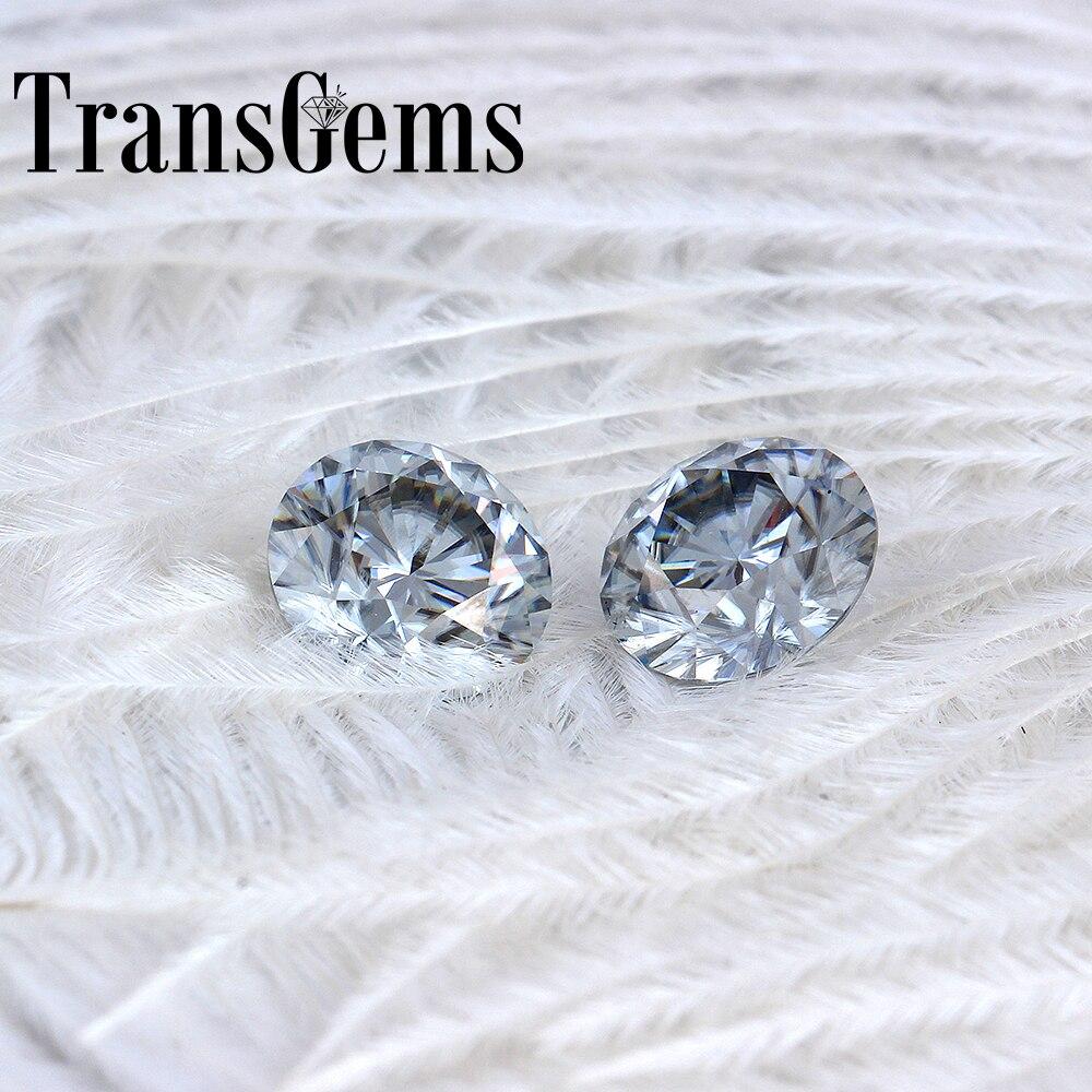 Transgemmes 8mm 2 Carat couleur grise certifié homme fait diamant lâche Moissanite perle Test positif comme véritable diamant pierre gemme 1 pièces