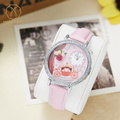 Miss Keke Cartoon Designer Watch Diamond Girls Kids 3D Clay Rose Flowers Watches Leather Casual Wristwatches 1069 montre enfant