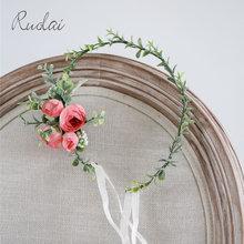 Женский обруч для волос в стиле бохо свадебный с цветами розой