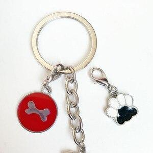 Металлический мини-брелок «сделай сам», брелок для автомобиля с героями мультфильмов, брелок для домашних животных, собак, чау-чау, брелок для собак, брелки с застежкой для омаров, брелок для сумки