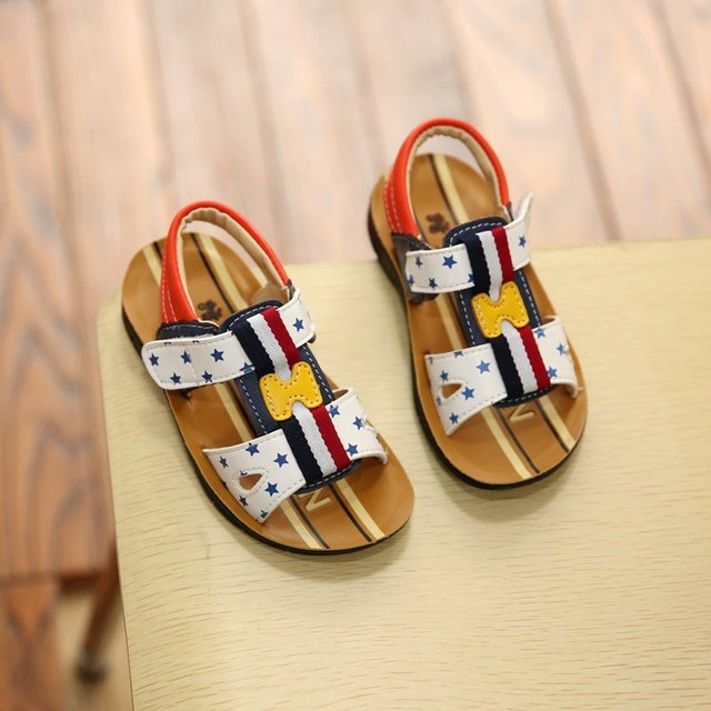 Elsa Special Offer Hot Sale Mixed Color Unisex 2016 Star 18-20.5cm Pu Bape For Shoes Kids Children Boy Sandals