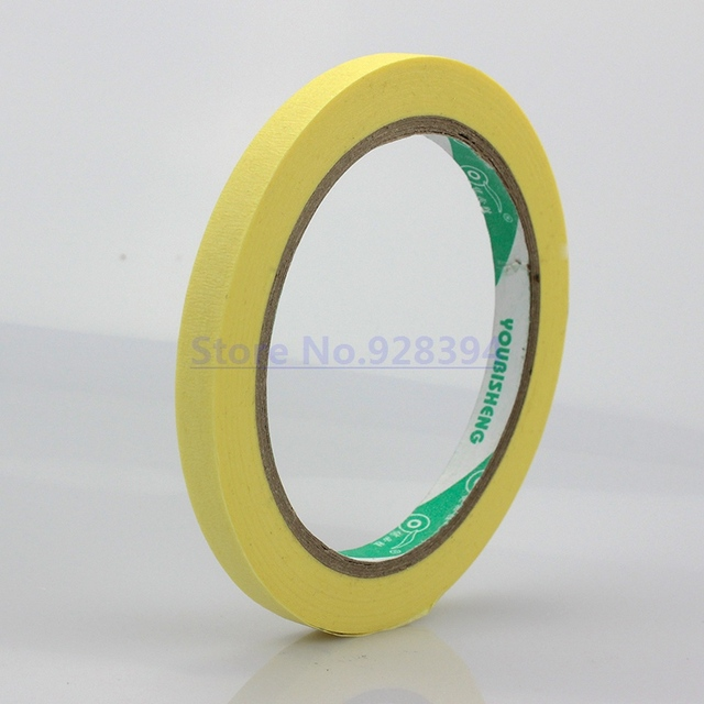 Yellow 8mm x 25meter Crepe Paper Masking Tape Good For Car Painting ...