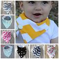 1pcs Baby bibs low price Top Cotton Striped Dot Waterproof Thicken Adjustable Boys Bandana Bib Dribble Bibs Girls Burp Cloths