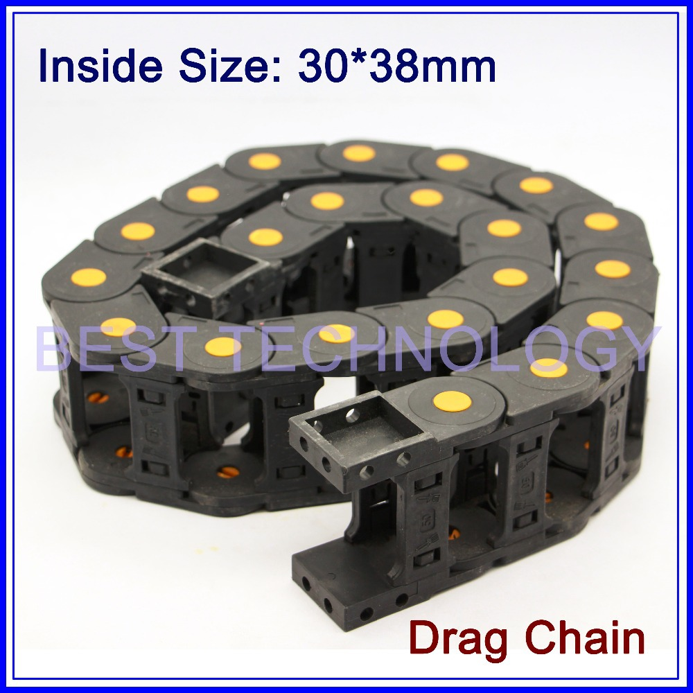 цена на Series 30 x 38mm 50mm 57mm 77mm 103mm L1000mm Plastic Cable Drag Chain Wire Carrier with end connectors plastic towline!