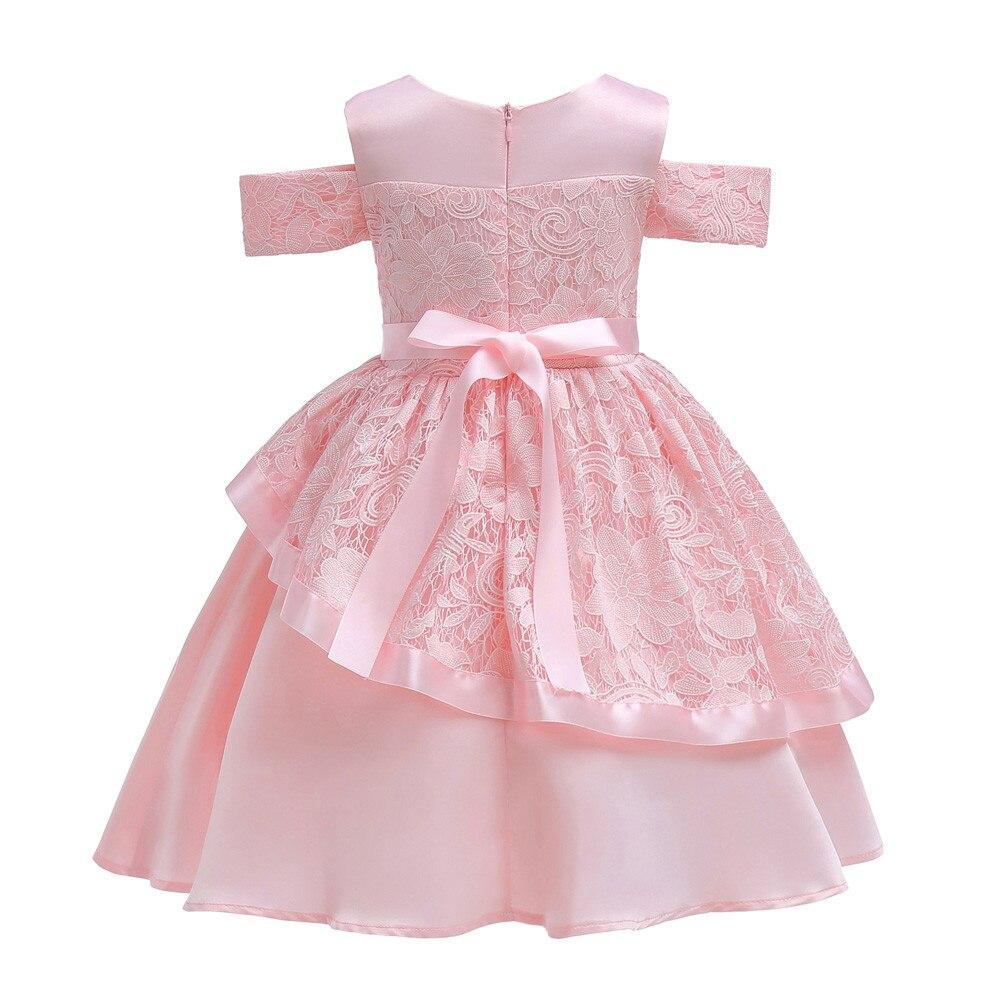 bc138bab3dd ... для маленьких девочек принцессы подружки невесты платье отлично  подходит для дня рождения Платья для вечеринки и свадьбы 2018 летнее Хлопковое  платье