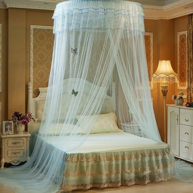 dentelle de luxe rideau moustiquaire pour lit double universel accroch d me moustiquaires pour. Black Bedroom Furniture Sets. Home Design Ideas