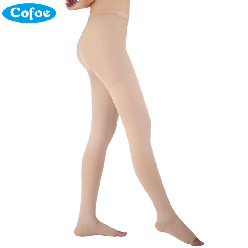 Cofoe A Pair Medical Varicose Veins Socks 34-46mmHg Pressure Level 3 Pantyhose Socks Varicose Veins Sock Compression Socks