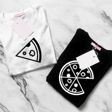 Try Everything Pizza Couple T Shirts Lovers 2018 Casual Matching Friends BFF Sister Clothes Summer Men Women Valentine's Top Tee