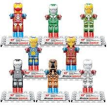 Iron man Minifigures 8pcs/lot D853 Super Heroes Building Blocks Sets Model Bricks Toys For Children Decool Compatible with logo0