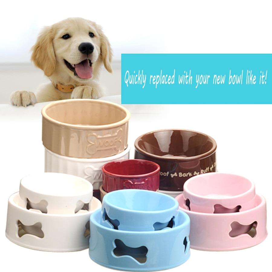 Uncategorized Cute Dog Bowl aliexpress com buy cute pet dog bowls with handles ceramic feeder food dispenser cat water bottle feeding bowl plato mascota pet