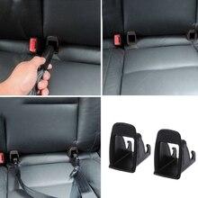 1 par de asiento de bebé de coche para cinturón de pestillo ISOFIX, conector de ranura guía, cinturones de seguridad y almohadillado de coche, piezas