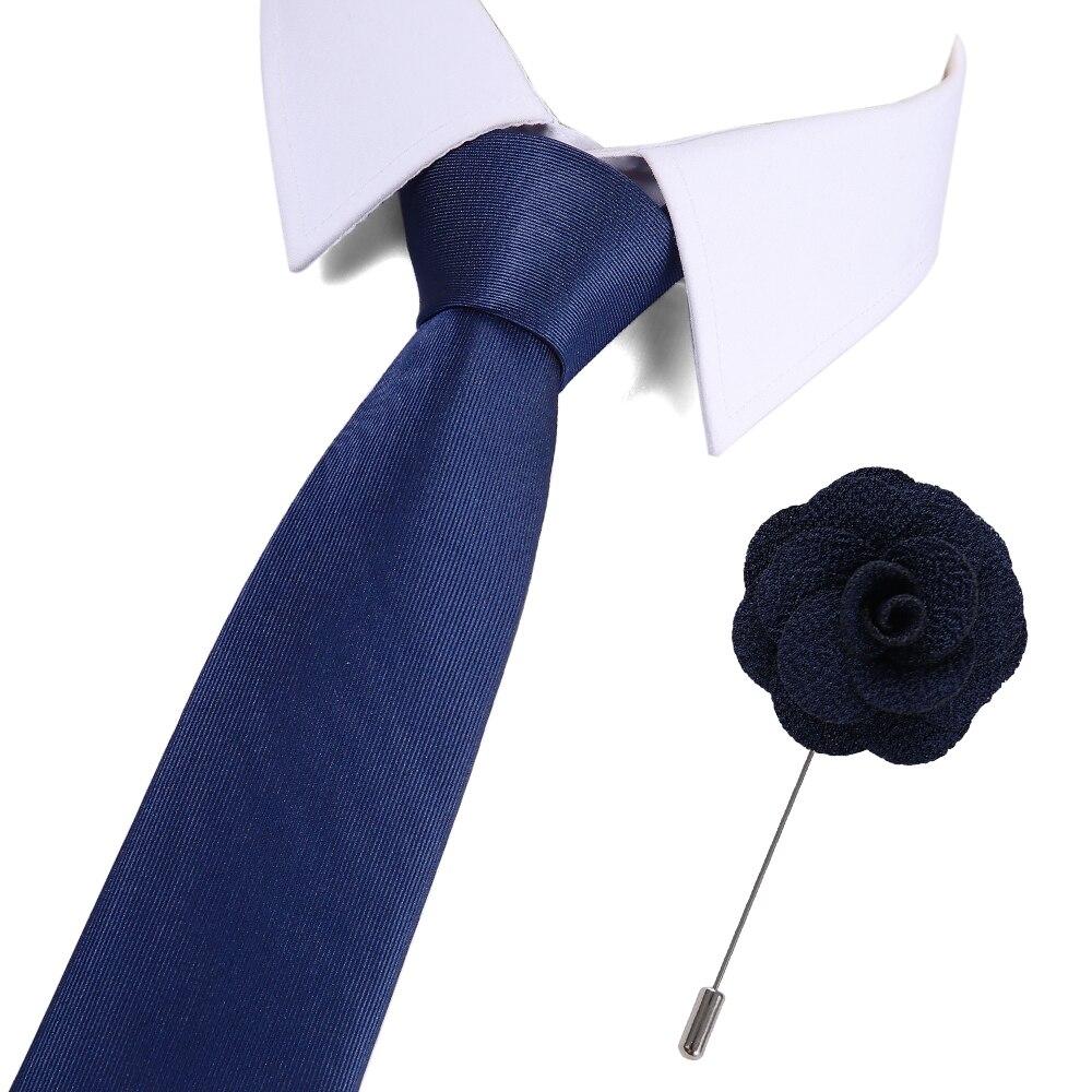 Men 39 s Ties New Design Silk Neck Ties 7 5cm Plaid amp Dot Ties for Men Formal Business Wedding Party Tie And Brooch Set in Men 39 s Ties amp Handkerchiefs from Apparel Accessories