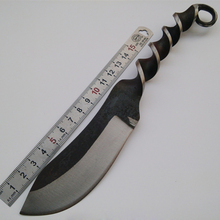 Unique Design Hunting Tactical Knife Fixed Blade Knife Handmade Forged Steel Survival Knives Leather Sheaths