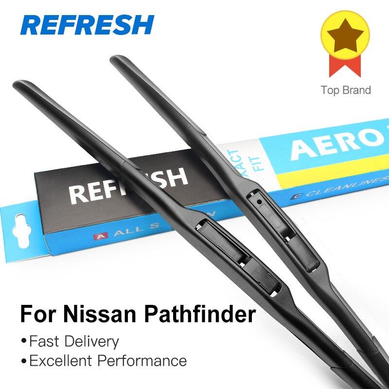 REFRESH Щетки стеклоочистителя для Nissan Pathfinder Fit Hook Arms 2005 2006 2007 2008 2009 2010 2011 2012 2013