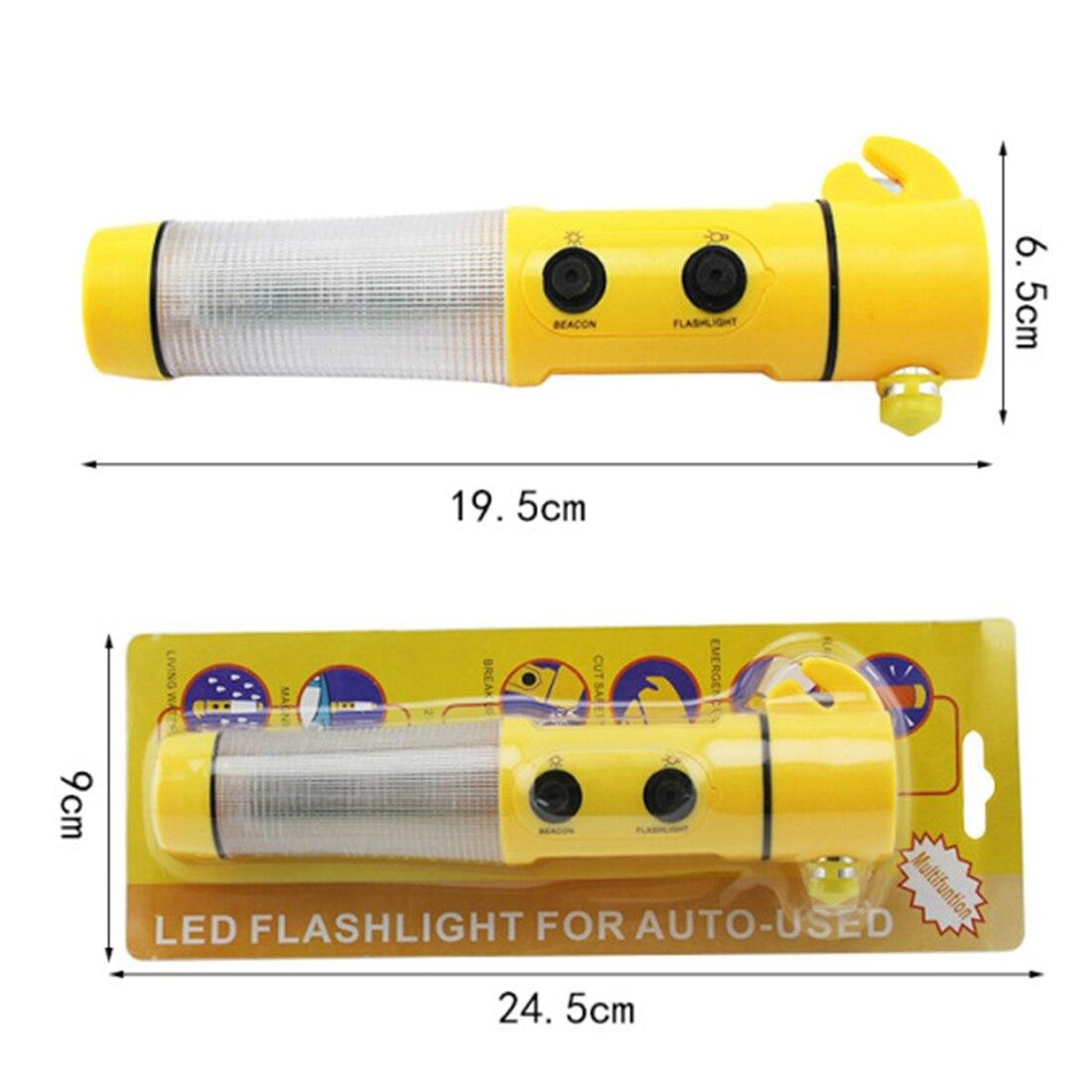 Yellow Mini Safety Hammer Life Saving Escape Emergency Hammer 4 In 1 Seat Belt Cutter Car Glass Window Breaker Rescue Hammer Too