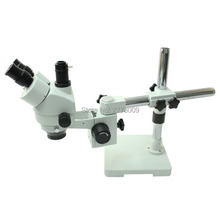 Single-arm Rotating Bracket Binocular Vision Trinocular Microscope 3.5X-90X Continuous Zoom Cell Phone Repair Industrial Testing