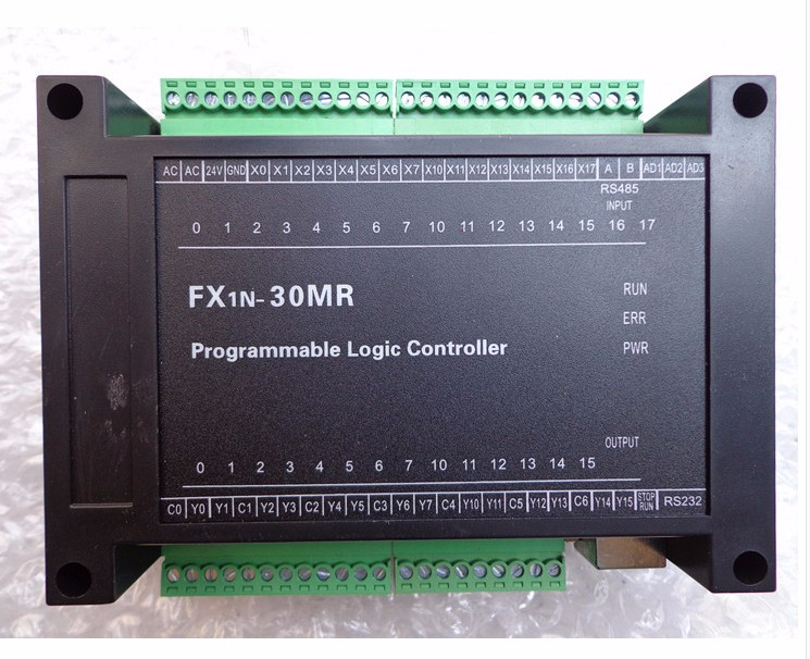 PLC Programmable Logic Controller FX1N30MR MT220V Power Supply Direct Download Text Touch PLC