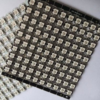 Free Shipping 100x WS2812B LED White Black With Heatsink 10mm 3mm DC5V 5050 SMD RGB WS2811