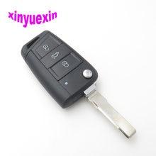 Xinyuexin Флип дистанционный Автомобильный ключ оболочка Брелок