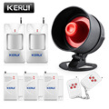 KERUI Wireless Security Alarm System for Home with 2 Motion Detector 3 Wireless Door 2 Remote Control Big horn