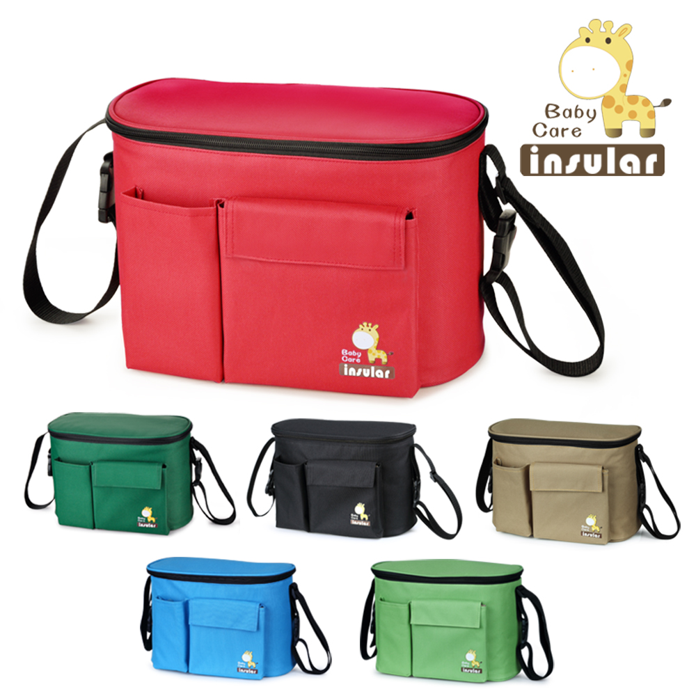 Baby Diaper Bags for Stroller Insular Thermal Waterproof Nappy Changing Bag Mommy Cooler Organizer Hobos 30*19.5*15.5 cm