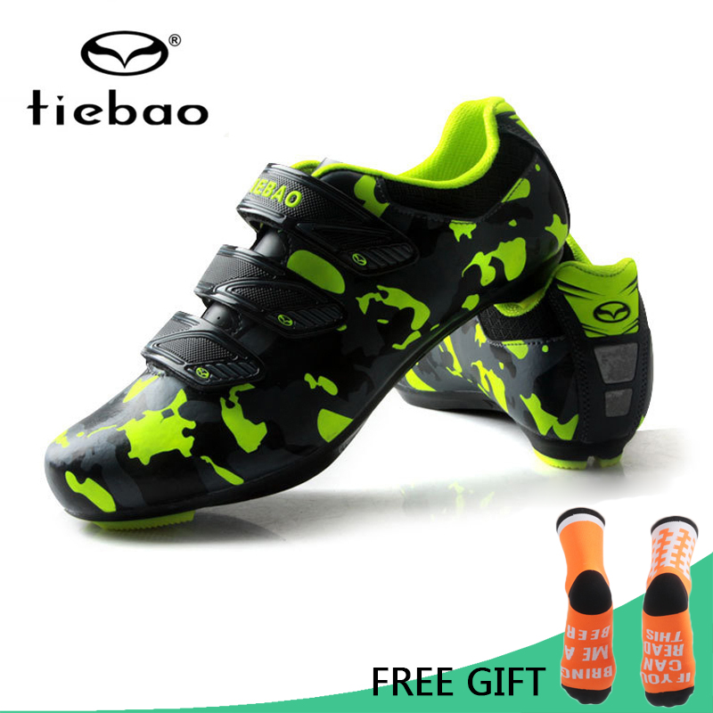 Tiebao Professional Road Bike Bicycle Shoes Athletic Racing Shoes Nylon Fibreglass Auto Lock Cycling Shoes zapatillas
