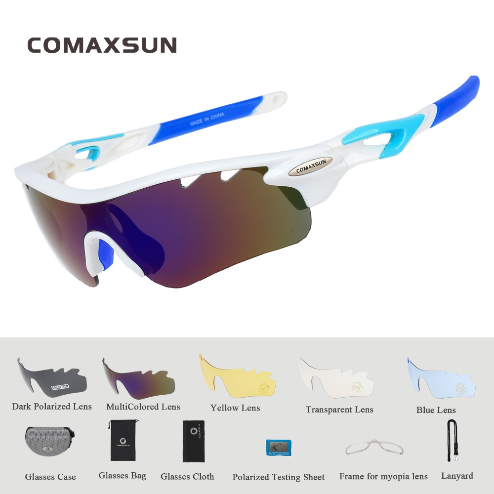 Professzionális polarizált kerékpáros szemüveg Kerékpáros védőszemüveg Horgászat kültéri sport napszemüveg UV 400, 5 lencse TR90 STS801 4 Szín