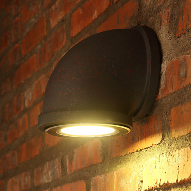 Retro Loft Style Industrial Vintage LED Wall Light Fixtures Antique Metal Water Pipe Lamp Bedside Wall Sconce Lampara Pared e27 base retro loft industrial led vintage wall lamp light wall sconce adjustable handle wood rustic loft light sconce fixtures