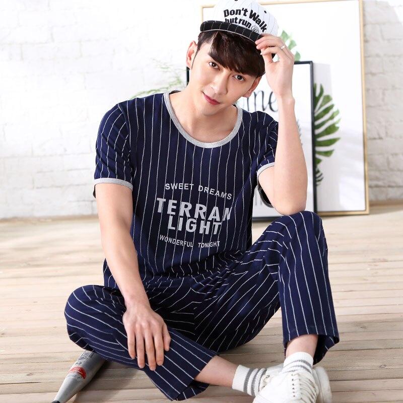 1ed224f4aa CherLemon Couples Matching Pajama Set Womens Cotton Short Sleeve Pyjama  Sleepwear Mens Summer Striped Casual Pjs Soft Nightwear-in Men s Pajama  Sets from ...