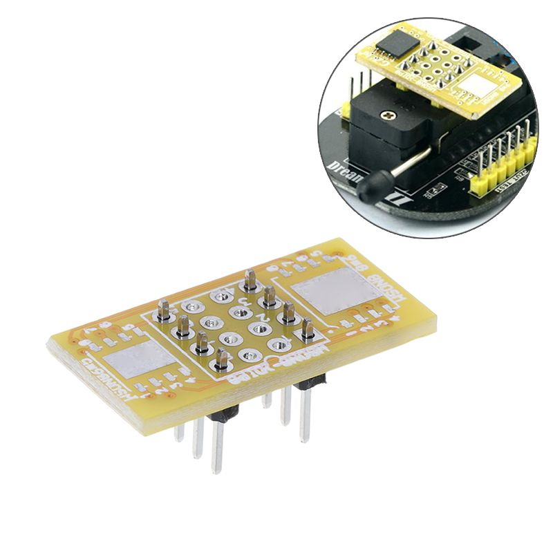 1pc 2 WSON8 To DIP8 Programmer Adapter Board QFN8/DFN8 To DIP8 & WSON8/MLF8 To DIP8 Socket