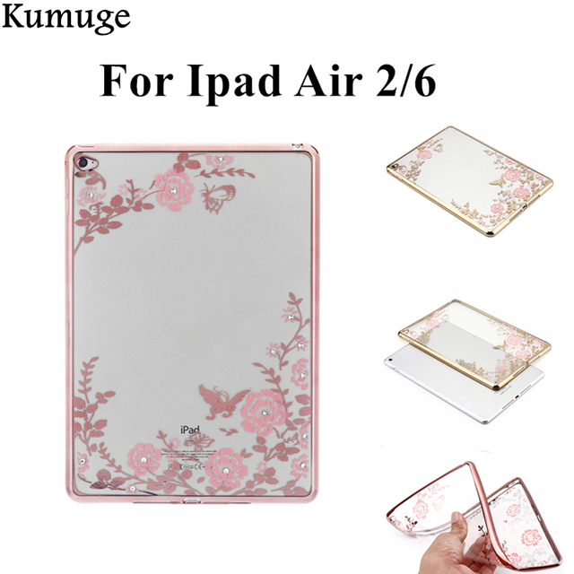 Fashion Case for Apple IPad Air 2 Ipad 6 Silicon Case Cover Clear Transparent Ultra Thin Shell Tablet Accessories+Stylus Pen