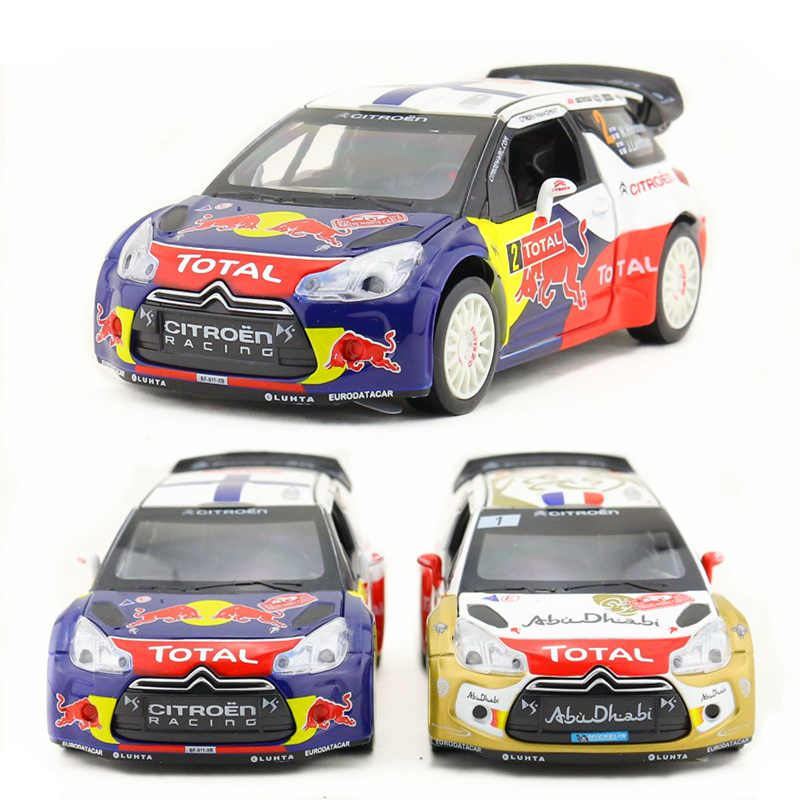 1:26/DieCast Metal Model/Citroen DS3 WRC racing/Sound & Light/Gift For Children/Pull back/Educational Collection/Gift For Kid