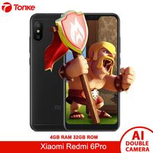 Original Global Firmware OTA Xiaomi Redmi 6 Pro 4G RAM 32GB ROM 5.84'' Display Snapdragon 625 Octa Core AI Dual Cameras 4000mAh
