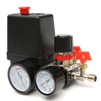 125PSI Air Compressor Pressure Valve Switch Manifold Relief Regulator Gauges 240V 16 X 10 5 X
