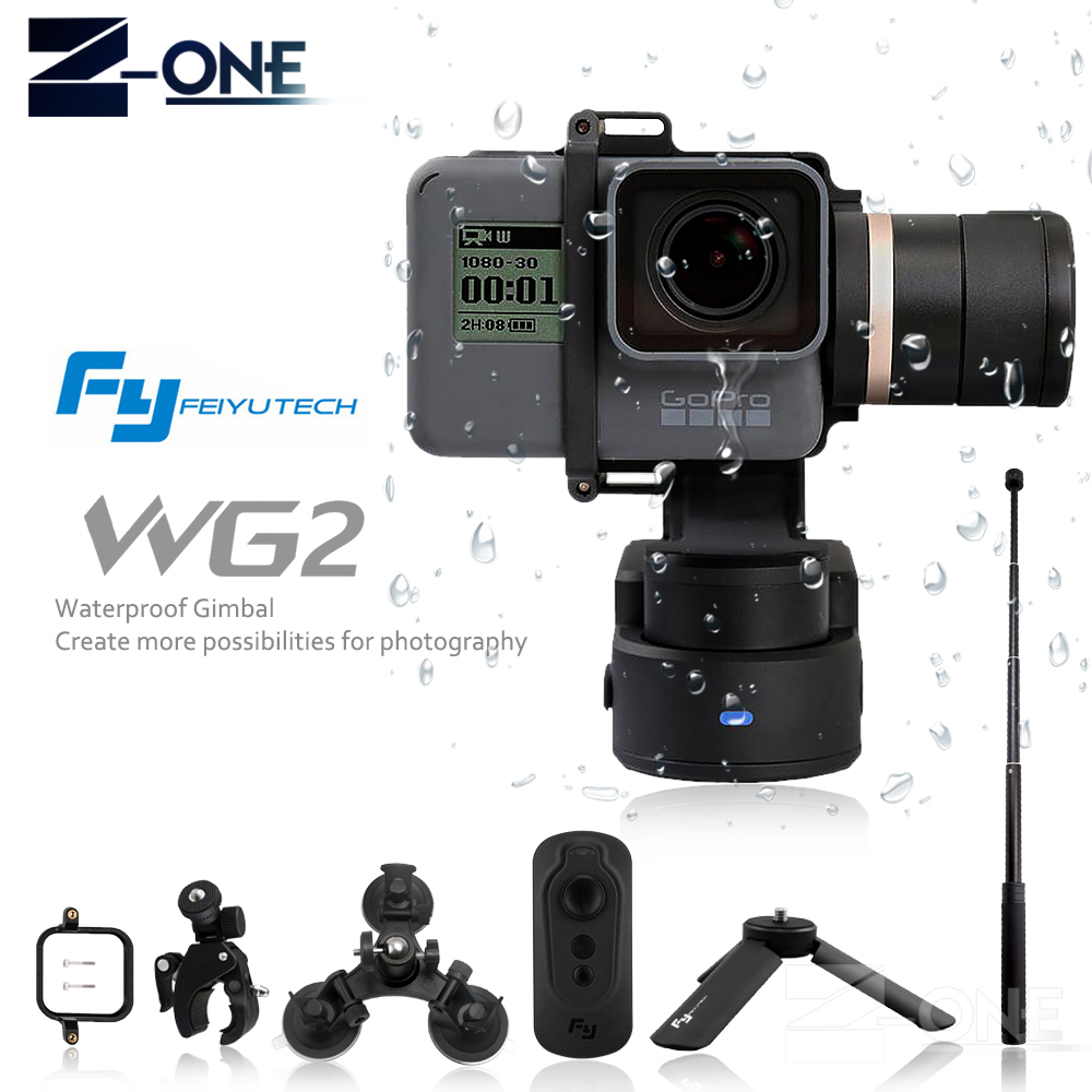 FeiyuTech Feiyu WG2 Wearable Mountable 3-axis Waterproof Gimbal Stabilizer for GoPro 6 4 5 Session YI 4K SJCAM AEE Action Camera wewow sport x1 handheld gimbal stabilizer 1 axis for gopro hreo 3 3 4 smartphone iphone 7 plus yi 4k sjcam aee action camera